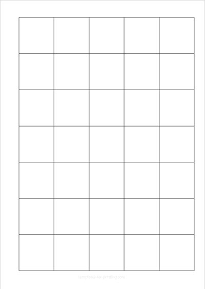 Squared Paper 5 x 7