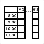 Timetable Mo-Su