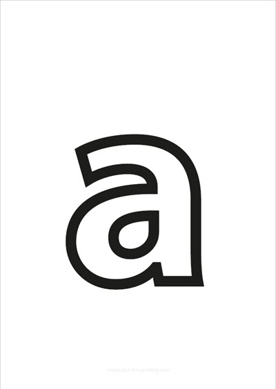 a lower case letter black only contour