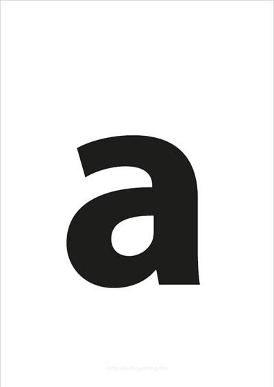 a lower case letter black