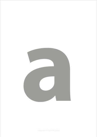 a lower case letter gray