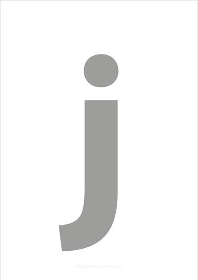 j lower case letter gray