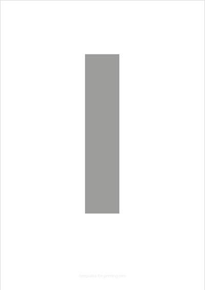 l lower case letter gray