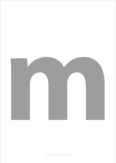 m lower case letter gray