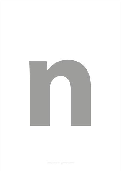 n lower case letter gray