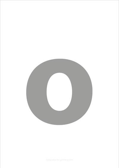 o lower case letter gray