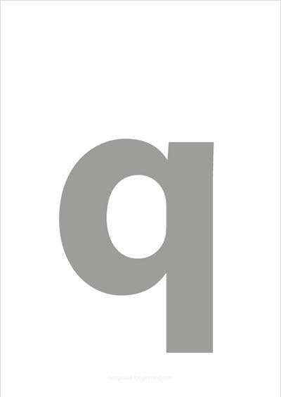 q lower case letter gray