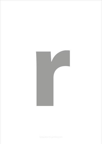 r lower case letter gray