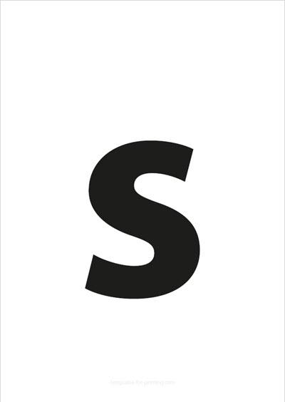 s lower case letter black