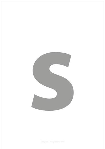 s lower case letter gray