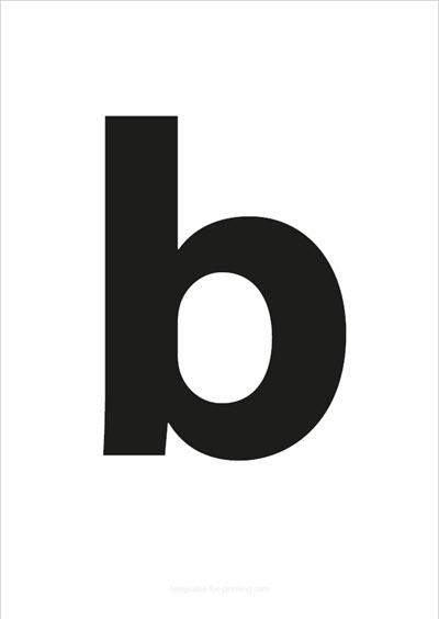 b lower case letter black