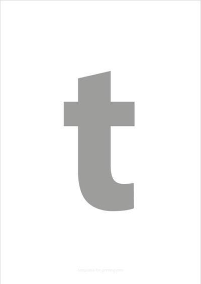 t lower case letter gray