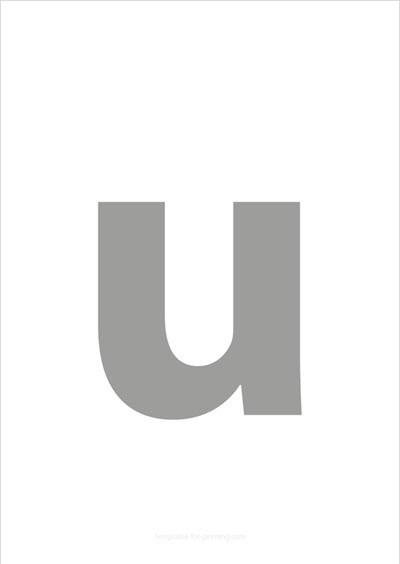 u lower case letter gray