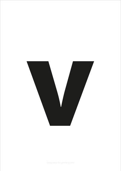 v lower case letter black