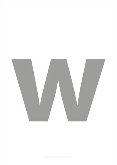 w lower case letter gray