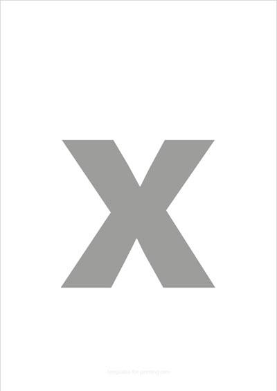 x lower case letter gray