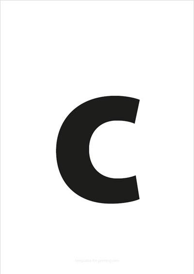c lower case letter black