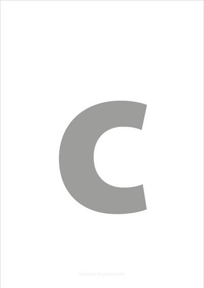 c lower case letter gray