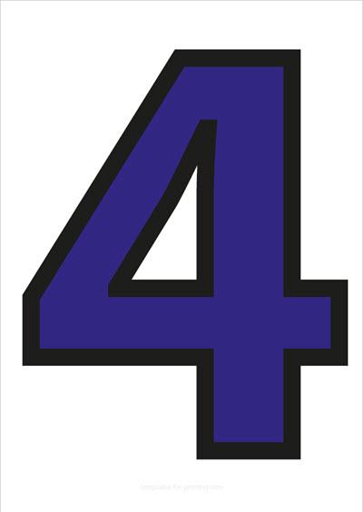 4 Blue with black contours