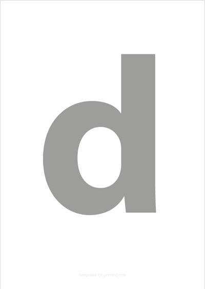 d lower case letter gray