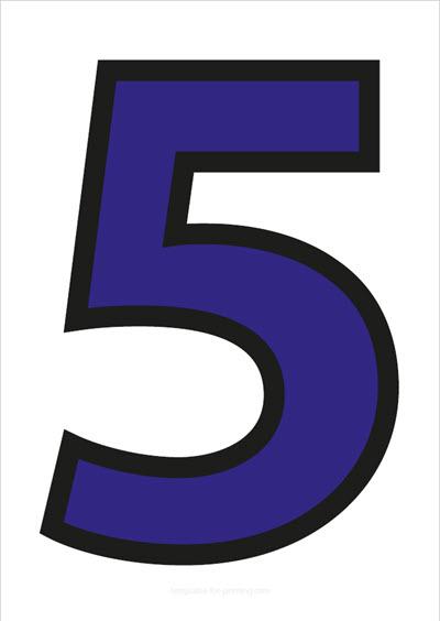 5 Blue with black contours