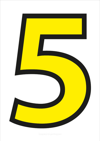 5 Yellow with black contours