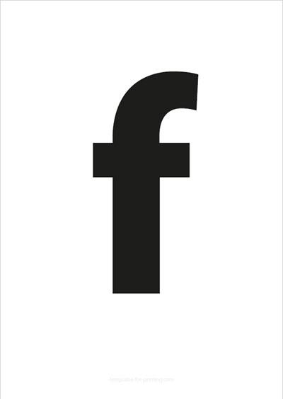 f lower case letter black