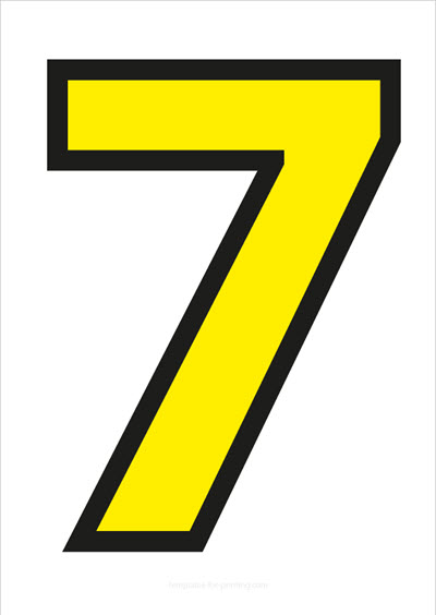 7 Yellow with black contours