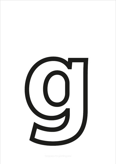 g lower case letter black only contour