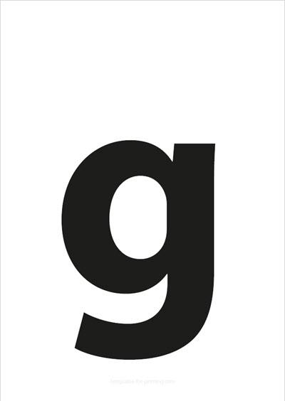 g lower case letter black