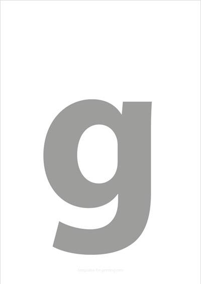 g lower case letter gray