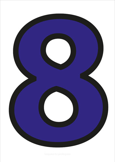 8 Blue with black contours