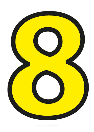 8 Yellow with black contours