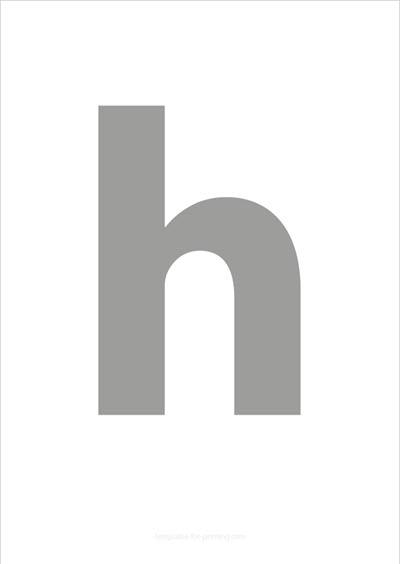h lower case letter gray