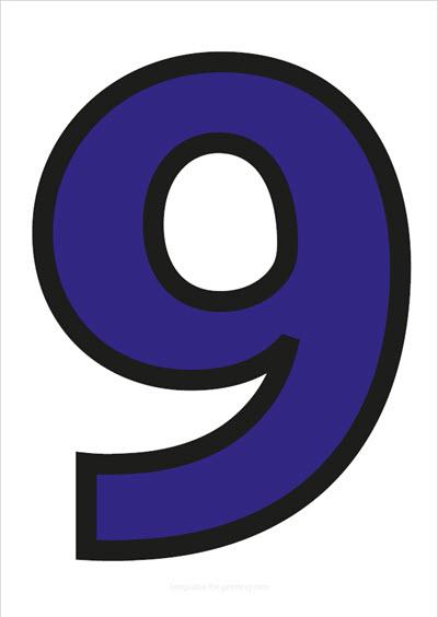 9 Blue with black contours
