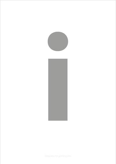 i lower case letter gray