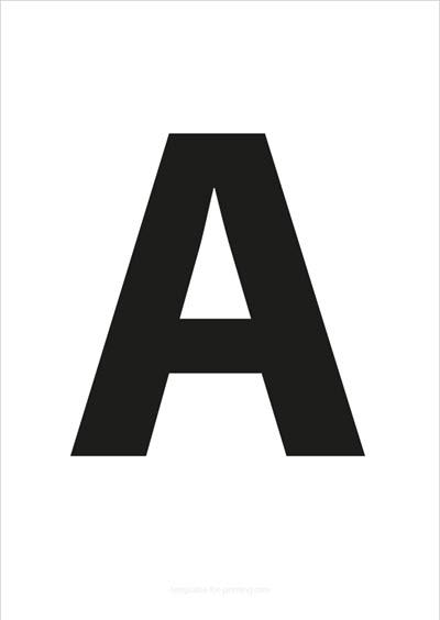 A Capital Letter Black A4