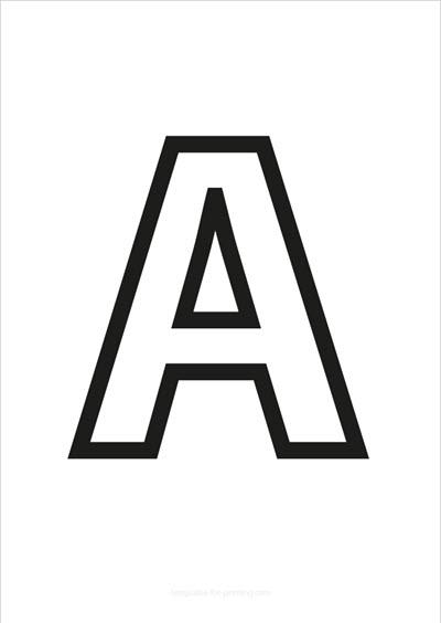 A Capital Letter Black only contours