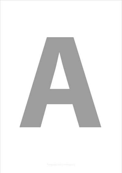A Capital Letter Gray