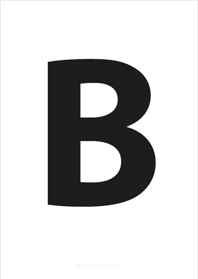 B Capital Letter Black A4