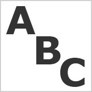 Black Capital letters for printing