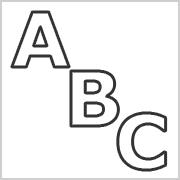 Black Capital letters only contours