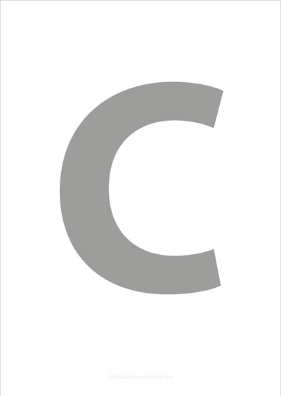 C Capital Letter Gray