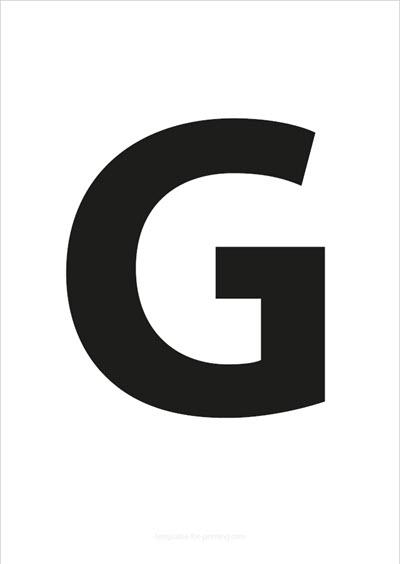 G Capital Letter Black A4