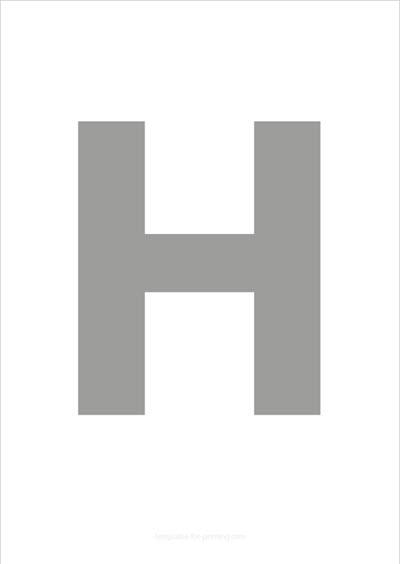 H Capital Letter Gray