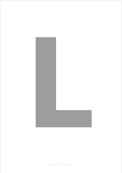 L Capital Letter Gray