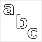 Lower Case Letters Black only contours