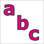 Lower Case Letters Pink with black contours