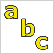 Lower Case Letters Yellow with black contours