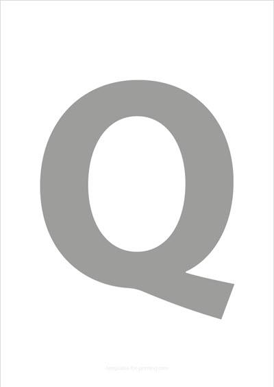 Q Capital Letter Gray